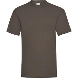 Kleidung Herren T-Shirts Universal Textiles 61036 Dunkelbraun