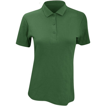Kleidung Damen Polohemden Anvil 6280L Waldgrün