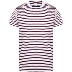 Kleidung T-Shirts Skinni Fit SF202 Weiß/Burgunder