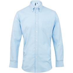 Kleidung Herren Langärmelige Hemden Premier PR234 Hellblau