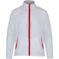 Kleidung Herren Windjacken 2786  Weiß/Rot