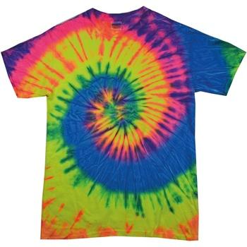 Kleidung Damen T-Shirts Colortone Rainbow Neon-Regenbogen