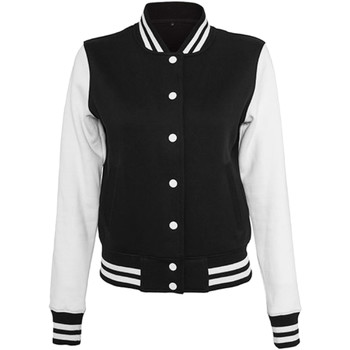 Kleidung Damen Jacken Build Your Brand BY027 Schwarz/Weiß