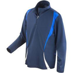 Kleidung Damen Trainingsjacken Spiro S178X Marineblau/Königsblau/Weiß