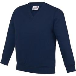 Kleidung Kinder Sweatshirts Awdis  Marineblau