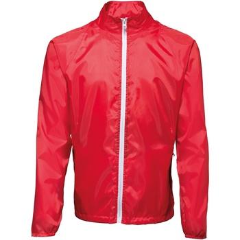 Kleidung Herren Windjacken 2786  Rot/Weiß