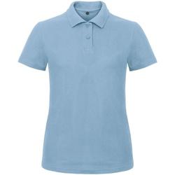 Kleidung Damen Polohemden B And C ID.001 Hellblau
