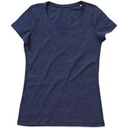 Kleidung Damen T-Shirts Stedman Stars Lisa Marineblau meliert