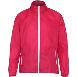 Kleidung Herren Windjacken 2786 TS011 Hot Pink/Weiß