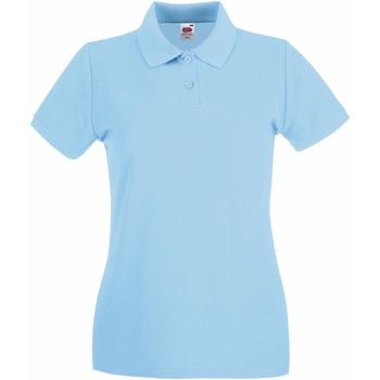 Kleidung Damen Polohemden Fruit Of The Loom 63030 Himmelblau