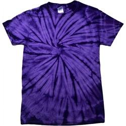Kleidung Kinder T-Shirts Colortone Spider Spinne Violett