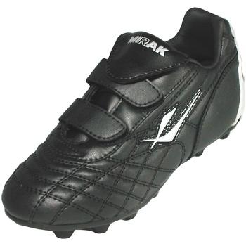 Schuhe Jungen Fußballschuhe Mirak Forward Velcro Moulded Schwarz/Silber