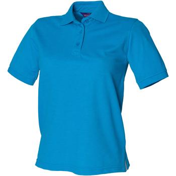 Kleidung Damen Polohemden Henbury HB401 Saphirblau