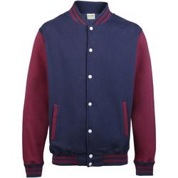 Kleidung Kinder Jacken Awdis JH43J Oxfordblau/Burgunder