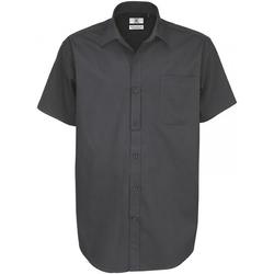 Kleidung Herren Kurzärmelige Hemden B And C Sharp Dunkelgrau