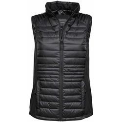 Kleidung Herren Daunenjacken Tee Jays TJ9625 Schwarz/Schwarz