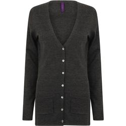 Kleidung Damen Strickjacken Henbury Fine Knit Grau