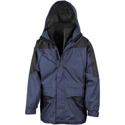Kleidung Herren Windjacken Result Alaska Marineblau/Schwarz