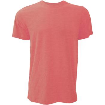 Kleidung Herren T-Shirts Bella + Canvas CA3001 Rot meliert
