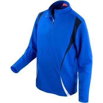 Kleidung Damen Trainingsjacken Spiro S178X Königsblau/Marineblau/Weiß