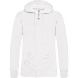 Kleidung Damen Sweatshirts B And C WW641 Weiß