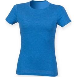 Kleidung Damen T-Shirts Skinni Fit SK161 Blau Triblend