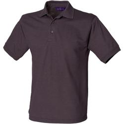 Kleidung Herren Polohemden Henbury HB400 Dunkelgrau