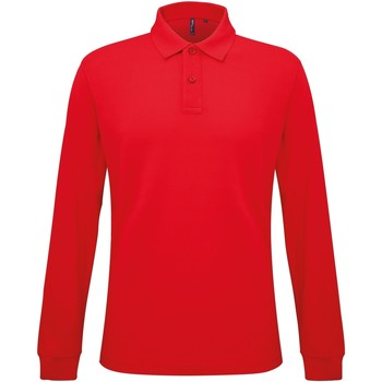 Kleidung Herren Langärmelige Polohemden Asquith & Fox AQ030 Rot
