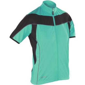 Kleidung Damen Fleecepullover Spiro S188F Aqua/Schwarz