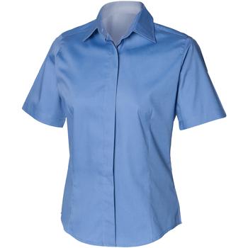 Kleidung Herren Kurzärmelige Hemden Henbury HB556 Businessblau
