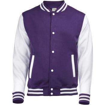Kleidung Kinder Jacken Awdis JH43J Violett/Weiß