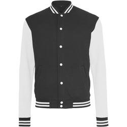 Kleidung Herren Jacken Build Your Brand BY015 Schwarz/Weiß