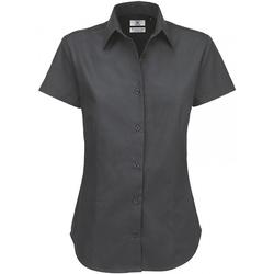 Kleidung Damen Hemden B And C SWT84 Dunkelgrau