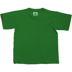 Kleidung Kinder T-Shirts B And C Exact Flaschengrün