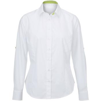 Kleidung Damen Hemden Alexandra AX060 Weiß/Lime