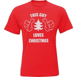 Kleidung Herren T-Shirts Christmas Shop CJ200 Rot