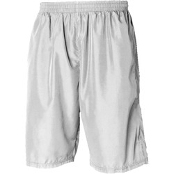 Kleidung Herren Shorts / Bermudas Tombo Teamsport Longline Weiß/Weiß