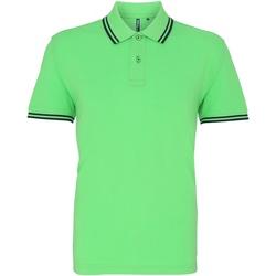 Kleidung Herren Polohemden Asquith & Fox AQ011 Limette/Marineblau