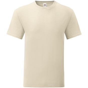 Kleidung Herren T-Shirts Fruit Of The Loom 61430 Natur