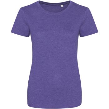 Kleidung Damen T-Shirts Awdis JT01F Violett meliert