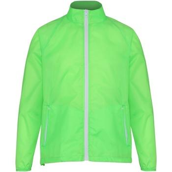 Kleidung Herren Windjacken 2786  Limette/Weiß