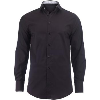 Kleidung Herren Langärmelige Hemden Alexandra Hospitality Schwarz/Weiß