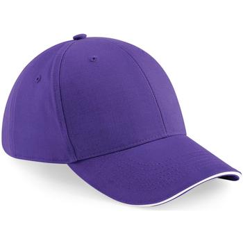 Accessoires Schirmmütze Beechfield B20 Violett/Weiß