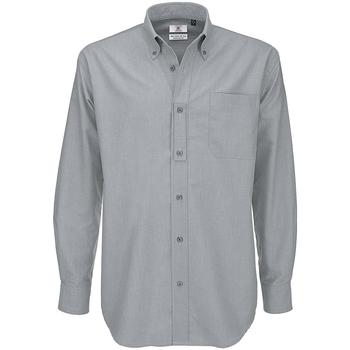 Kleidung Herren Langärmelige Hemden B And C SMO01 Silbermond