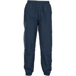 Kleidung Herren Jogginghosen Tombo Teamsport TL470 Marineblau/Seitenstreifen weiß