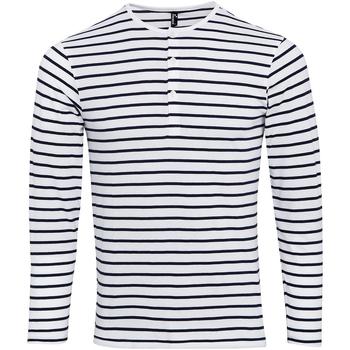 Kleidung Herren Langarmshirts Premier Long John Weiß/Marineblau