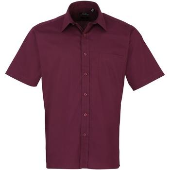 Kleidung Herren Kurzärmelige Hemden Premier PR202 Aubergine