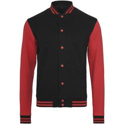 Kleidung Herren Jacken Build Your Brand BY015 Schwarz/Rot
