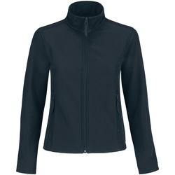 Kleidung Damen Fleecepullover B And C JWI63 Marineblau/Neongrün