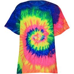 Kleidung Kinder T-Shirts Colortone TD02B Neon Regenbogen